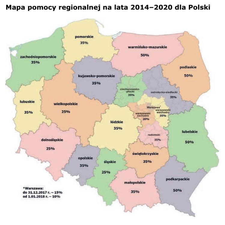 mapa regionalna
